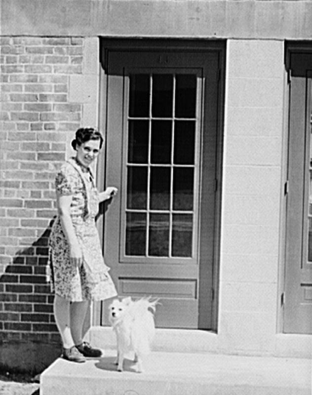 Photo: A Bay Village tenant, 1942