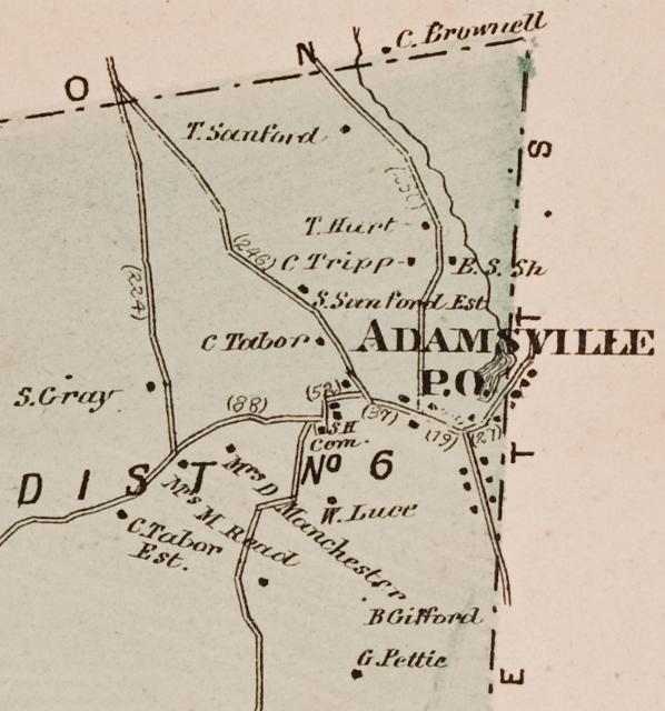 1870 Map of Adamsville