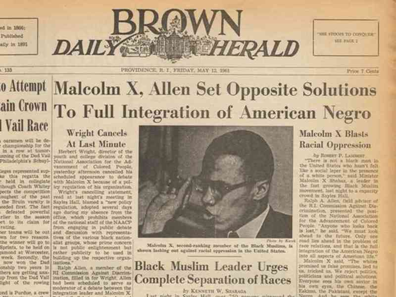 Malcolm X visits Brown