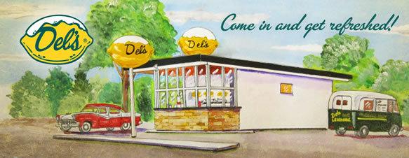 Del's Frozen Lemonade Watercolor