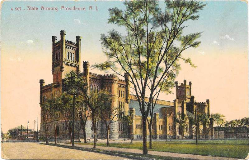 Postcard of the Providence Armory