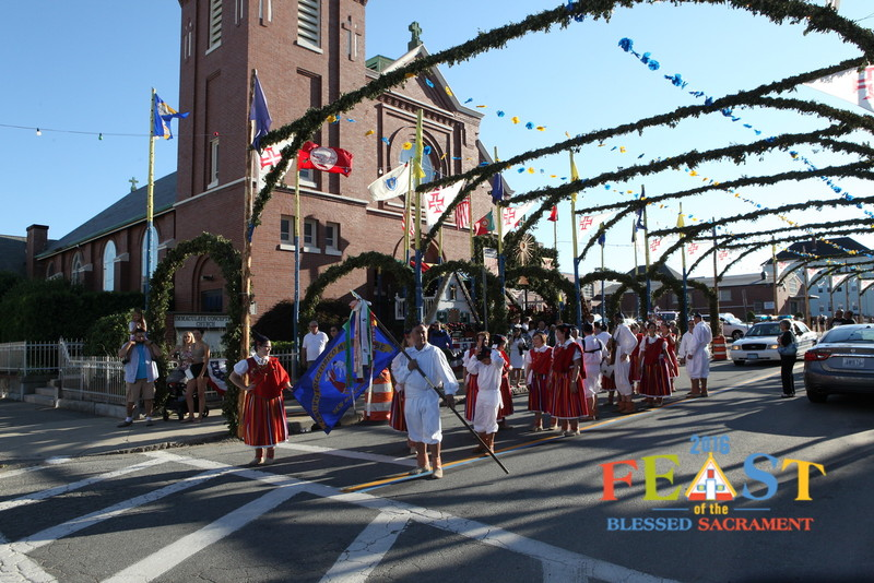 Photo: Feast parade at Immaculate Conception Church