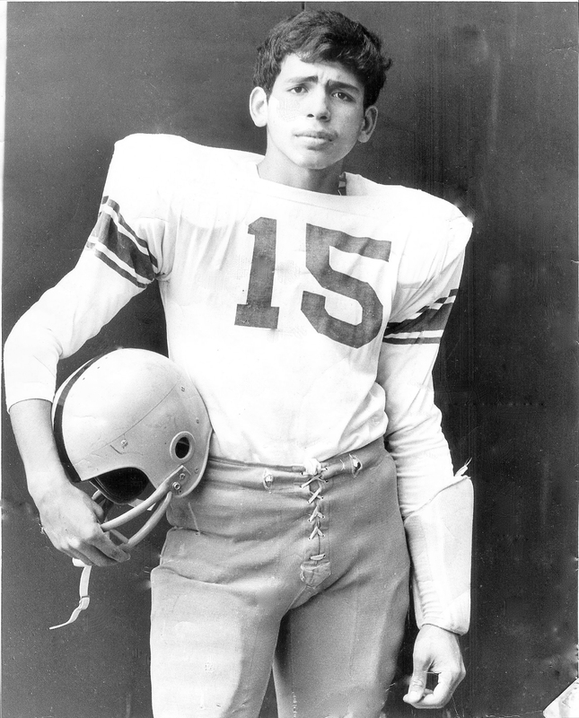 PHOTO: Jose Gonzalez in his football uniform