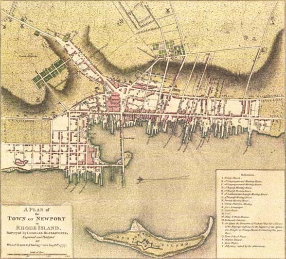 A Plan of the Town of Newport, 1777