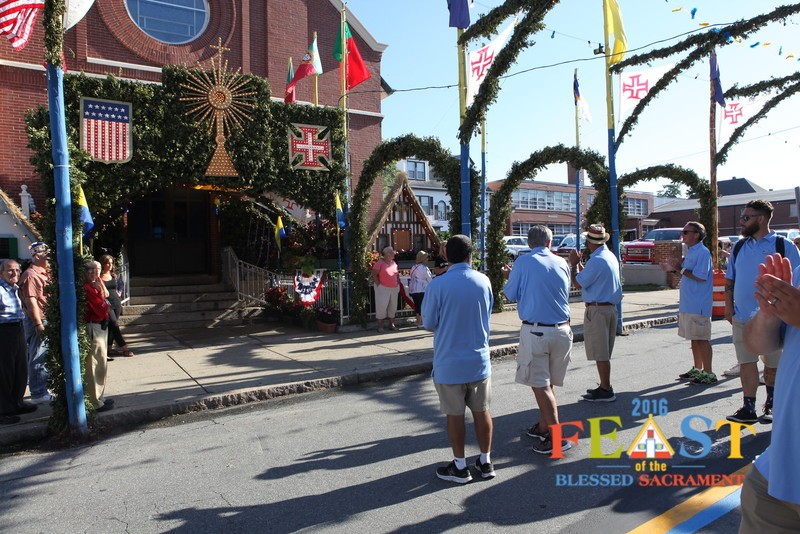 Photo: Immaculate Conception Church decorated for the Feast