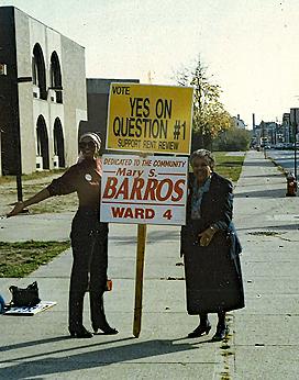 Mary Santos Barros Campaigning in 1991