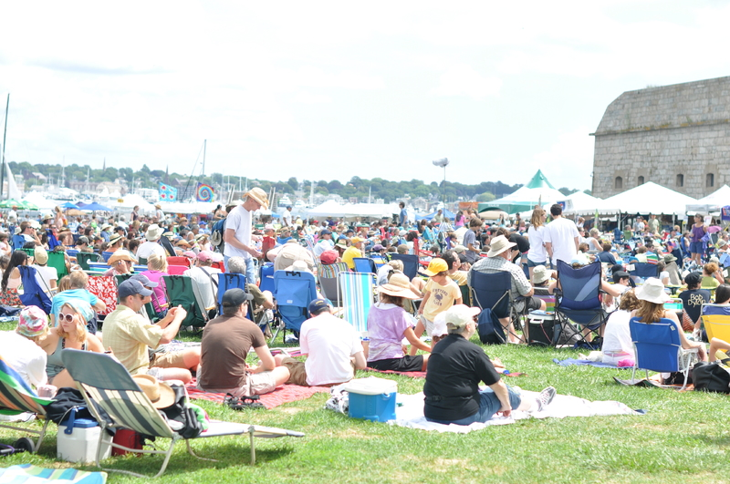 Newport Folk Festival Crowd at Fort Adams