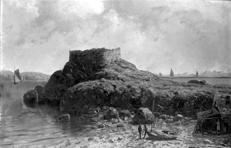 Fort Dumpling, Rhode Island, by George L. Clough, ca. 1870