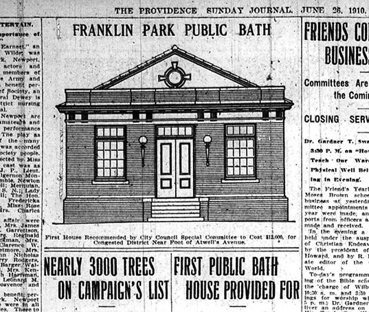 Public Bathhouse in Franklin Park