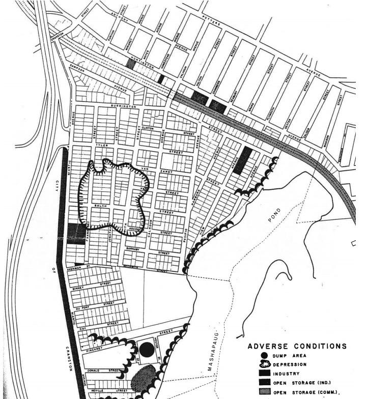 Map of West Elmwood