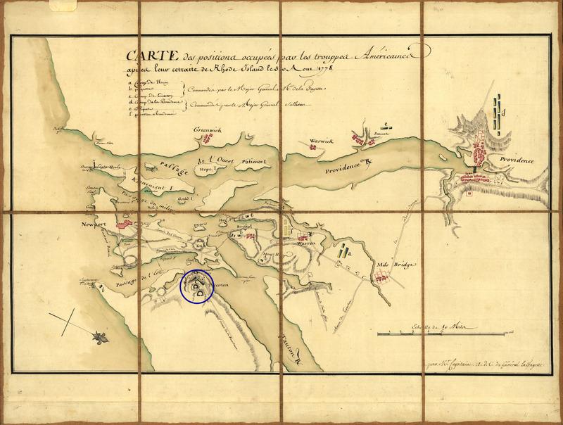 Map of Narragansett Bay, 1778