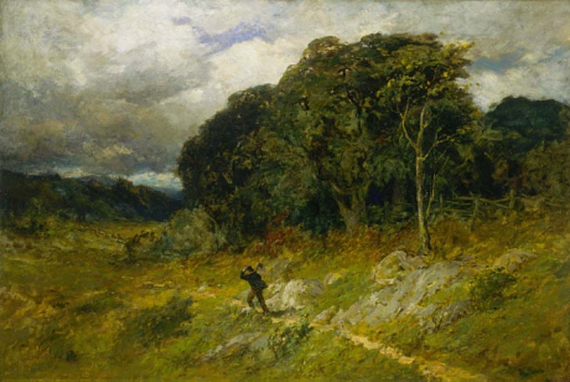 """Painting: """"Approaching Storm"""", by Edward Mitchell Bannister"""