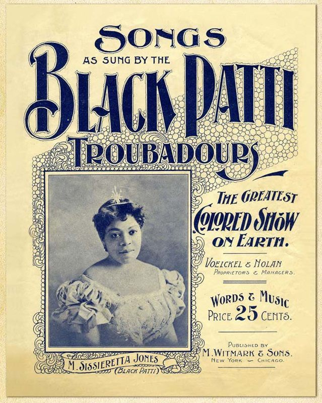 Flyer for the Black Patti Troubadours