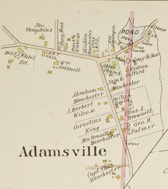 1895 Map of Adamsville&lt;br /&gt;<br />