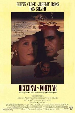 Reversal of Fortune theatrical release poster, 1990