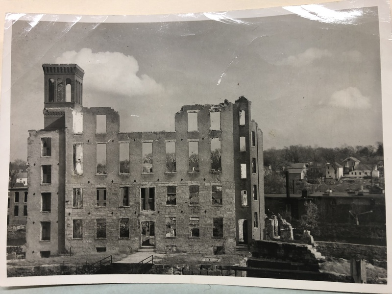Natick Mill fire remains