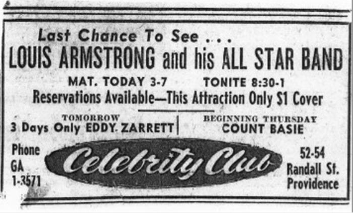 Celebrity Club Advertisement