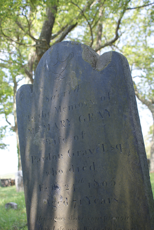 Gravestone of Mary Gray&lt;br /&gt;<br />