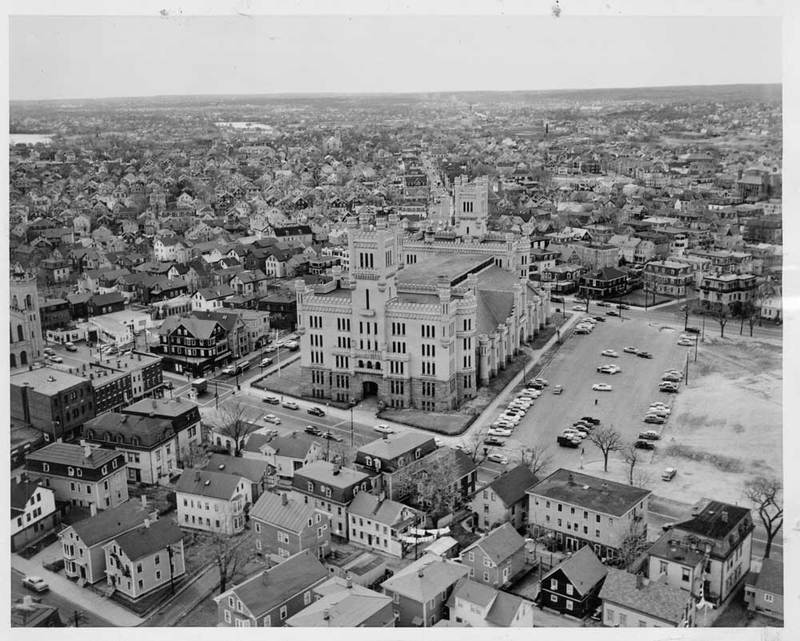 Aerial View of Providence Armory