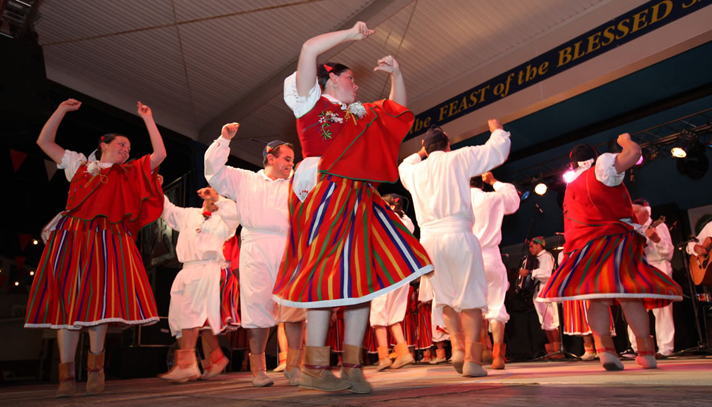 Photo: Grupo Folclorico performs at the Feast